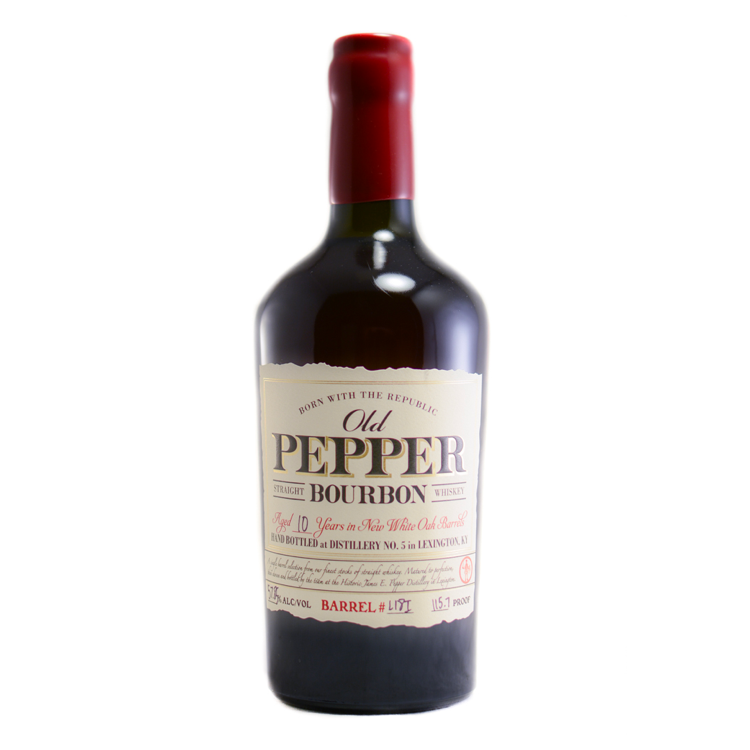 Old Pepper 10 Year Bourbon - Available at Wooden Cork