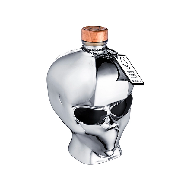 Outer Space Alien Vodka Chrome Edition - Available at Wooden Cork