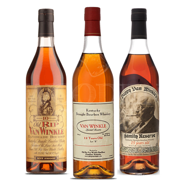 Pappy Van Winkle's 10 Year & 12 Year Lot B & 15 Year Bundle - Available at Wooden Cork
