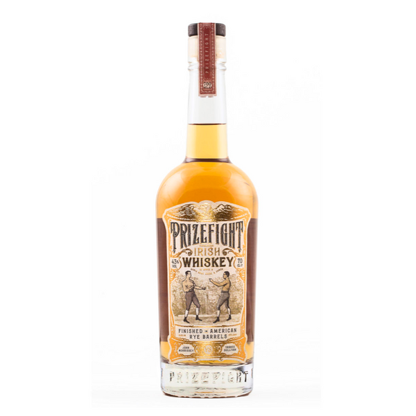 Prizefight Irish Whiskey - Available at Wooden Cork