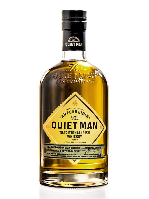 Quiet Man Irish Whiskey - Available at Wooden Cork