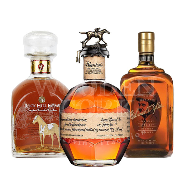 Blanton's Bourbon & Rock Hill Farms Bourbon & Elmer T. Lee Bourbon Bundle - Available at Wooden Cork