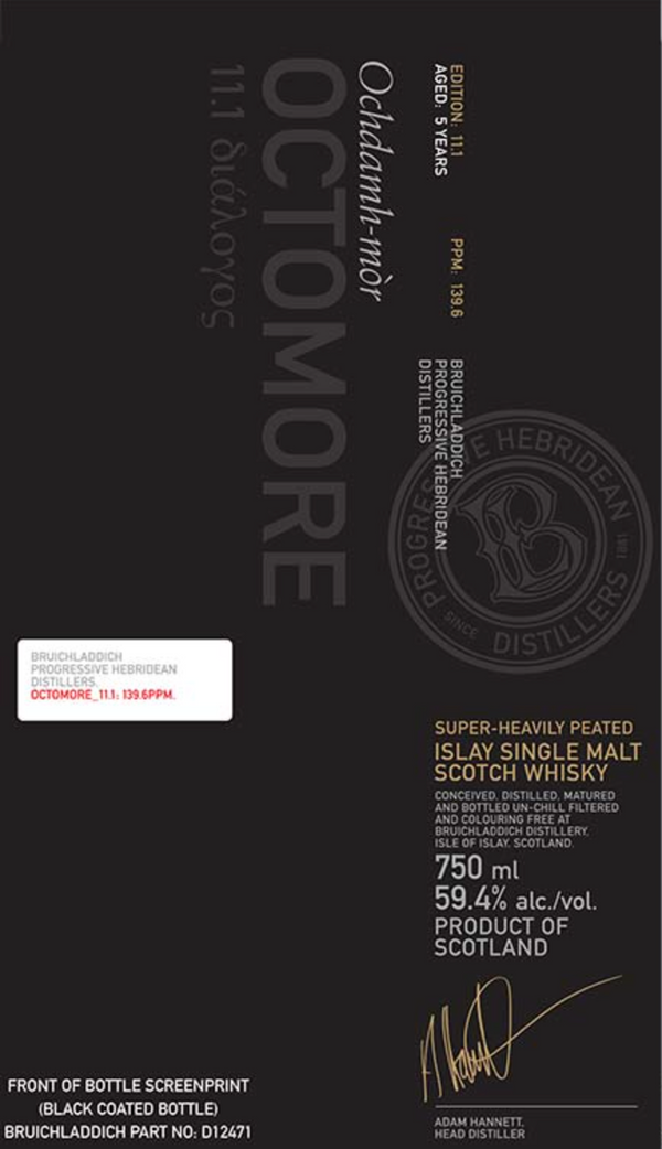Bruichladdich Octomore 11.1 Single Malt Scotch Whiskey - Available at Wooden Cork