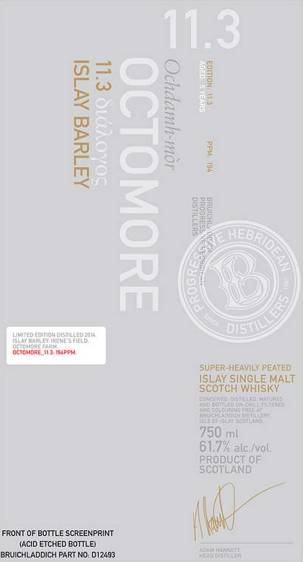 Bruichladdich Octomore 11.3 Single Malt Scotch Whiskey - Available at Wooden Cork