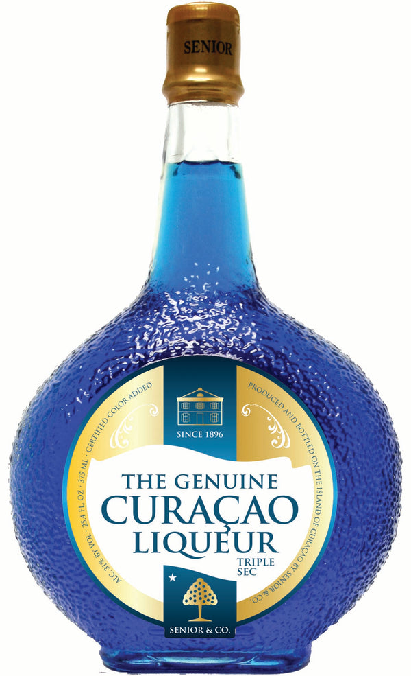 The Genuine Curacao Liqueur - Blue - Available at Wooden Cork
