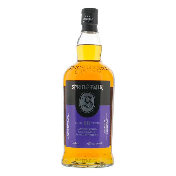 Springbank 18 Year Old Scotch - Available at Wooden Cork