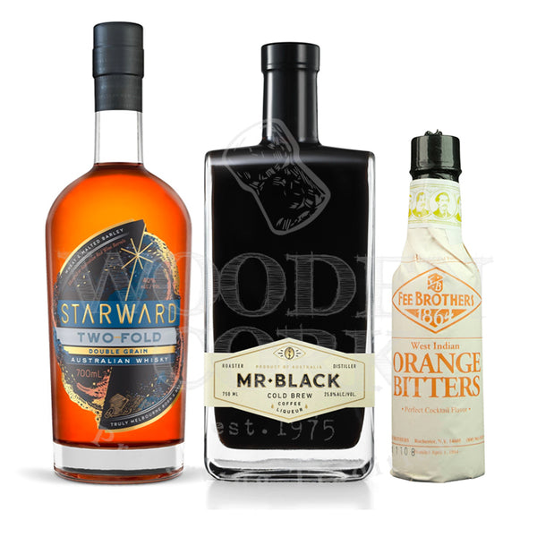 Starward Two Fold, Mr. Black Cold Brew & Fee Brothers Orange Bitters Cocktail Bundle - Available at Wooden Cork