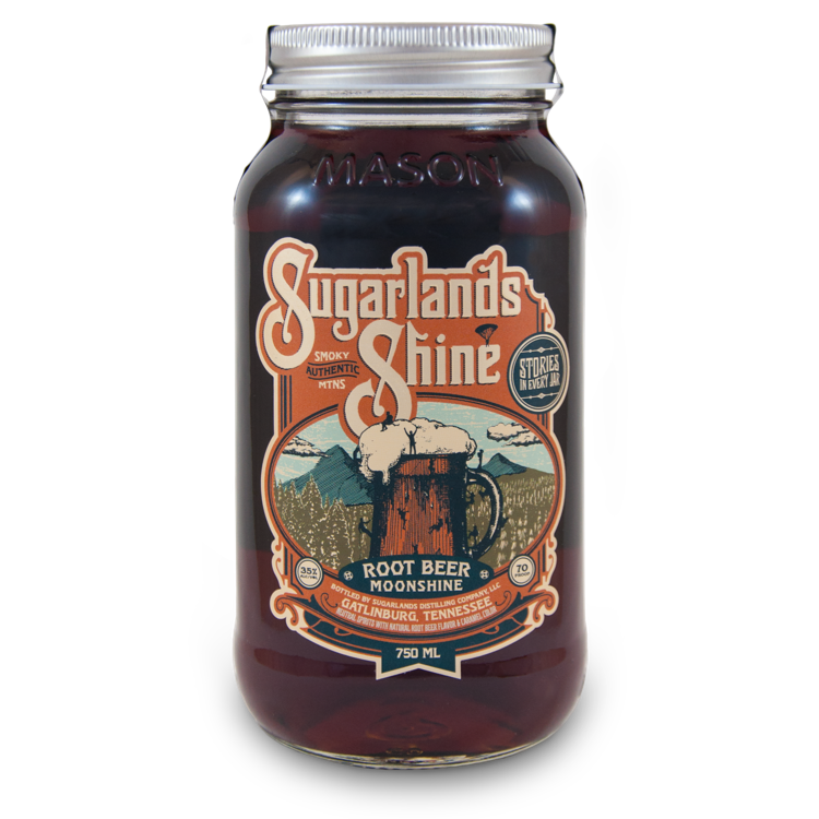 Sugarlands Shine Root Beer Moonshine - Available at Wooden Cork