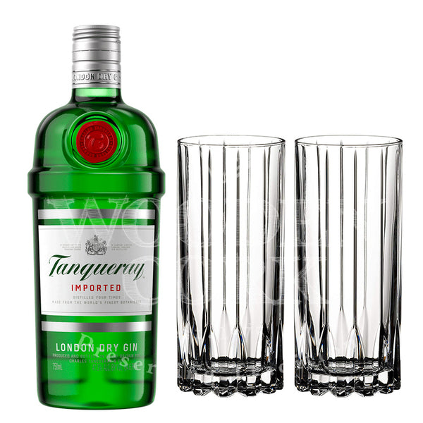 Tanqueray Gin with Glass Set Bundle - Available at Wooden Cork