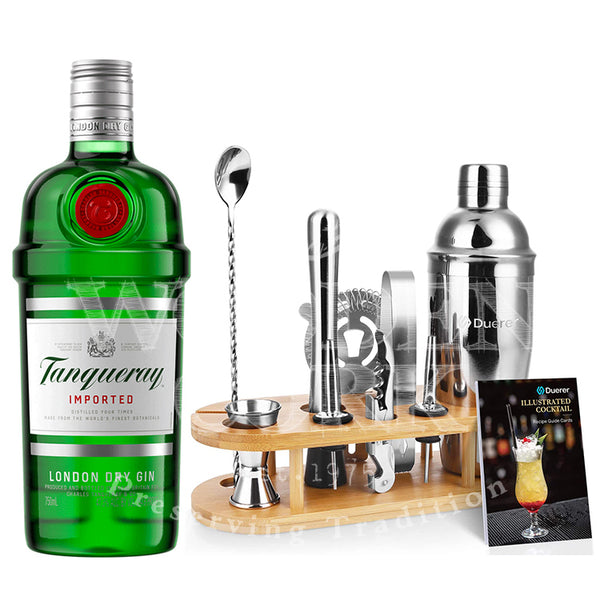 Tanqueray Gin with Bartender Kit Bundle - Available at Wooden Cork