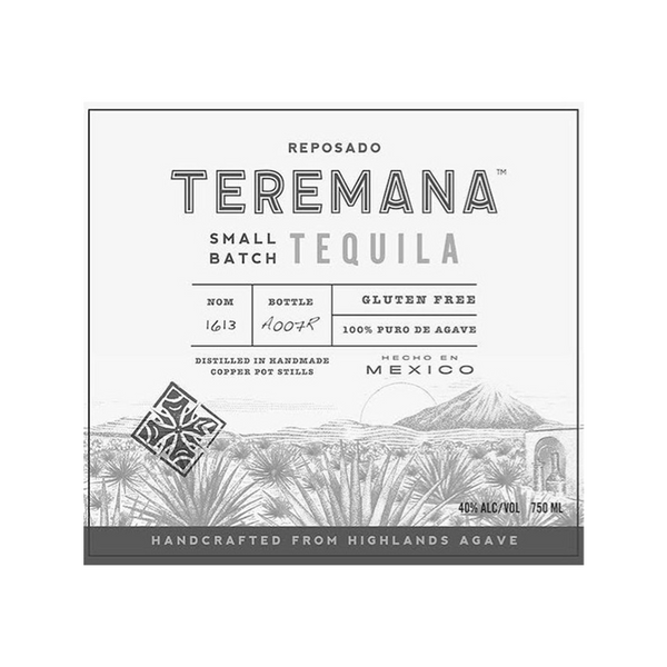 Teremana Tequila Reposado - Available at Wooden Cork