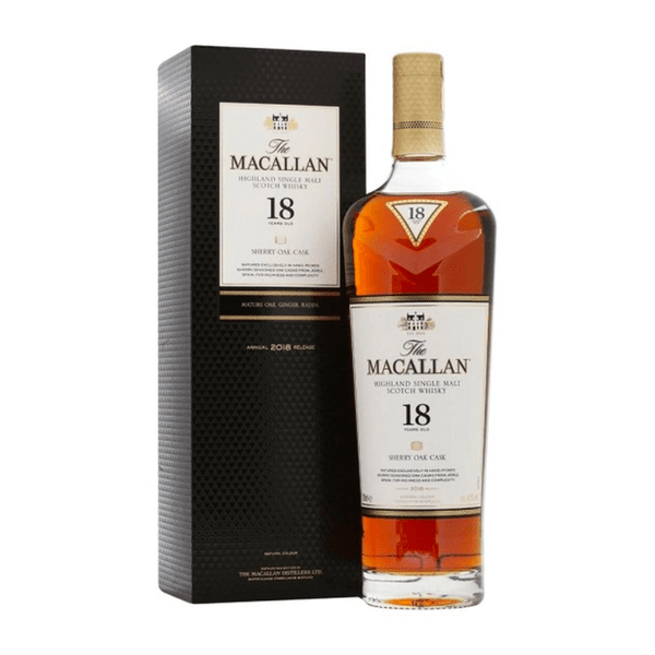 The Macallan 18 Year Old Sherry Oak - Available at Wooden Cork