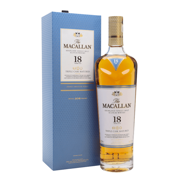 The Macallan Triple Cask Matured 18 Years Old - Available at Wooden Cork