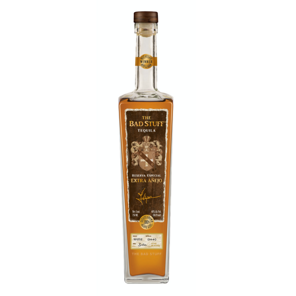 The Bad Stuff Extra Anejo Tequila - Available at Wooden Cork