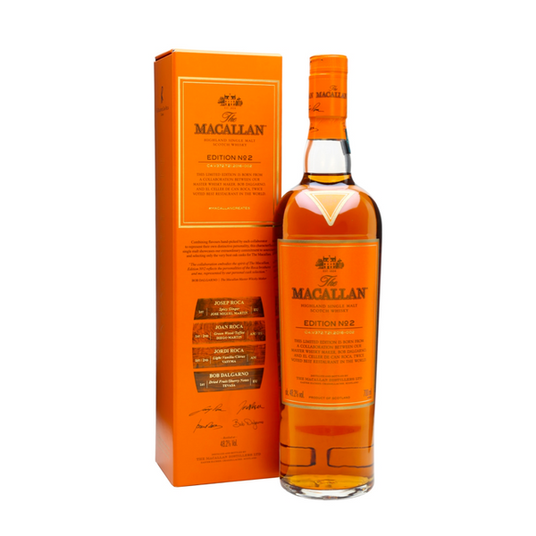 The Macallan Edition No. 2 Single Malt Scotch Whisky - Available at Wooden Cork