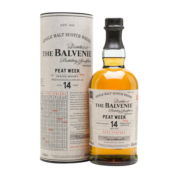 The Balvenie Peat Week 14 Year Old - Available at Wooden Cork
