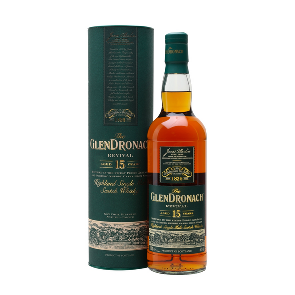 The Glendronach 15 Year Revival Scotch Whisky - Available at Wooden Cork