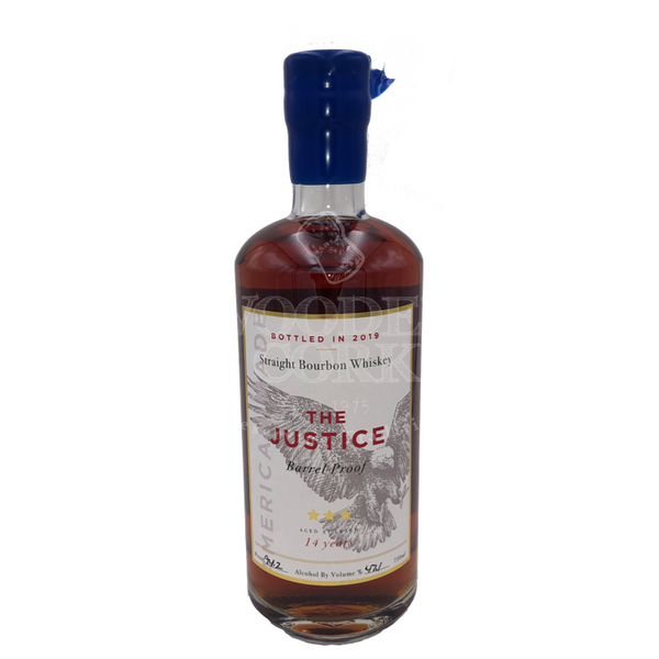 The Justice Barrel Proof 14 Year Bourbon