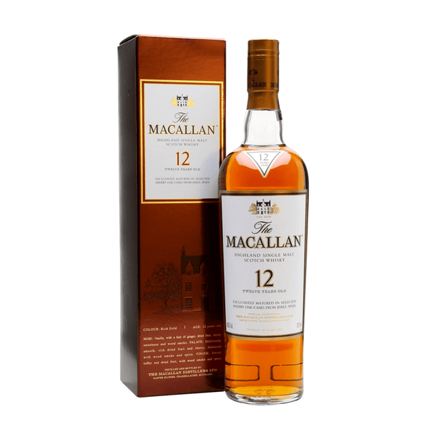 The Macallan 12 Years Sherry Oak Scotch (Brown Box) - Available at Wooden Cork