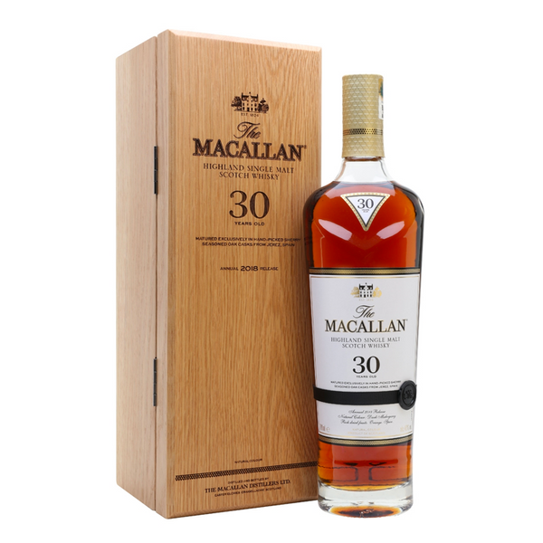 The Macallan Sherry Oak Single Malt Scotch 30 Year - 2018 Release - Available at Wooden Cork