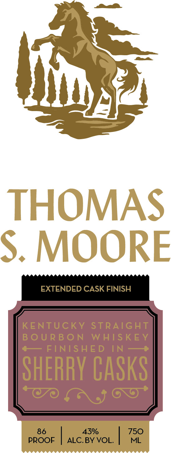 Thomas S. Moore Extended Cask Sherry Finish - Available at Wooden Cork