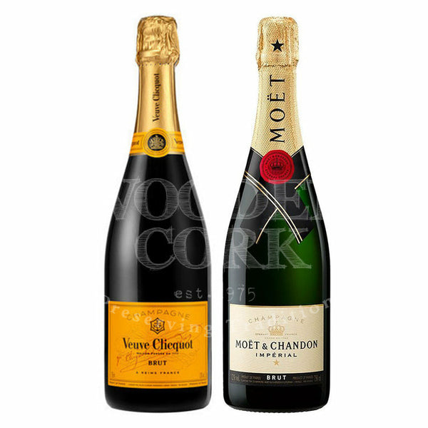 Veuve Clicquot Brut & Moet & Chandon Imperial Brut Bundle - Available at Wooden Cork