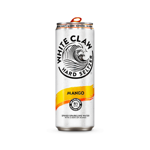 White Claw Hard Seltzer Mango 6pk - Available at Wooden Cork
