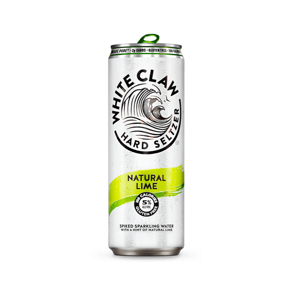 White Claw Hard Seltzer Natural Lime 6pk - Available at Wooden Cork