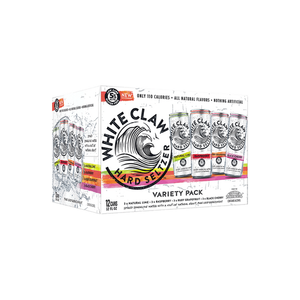 White Claw Hard Seltzer Variety Pack 12pk - Available at Wooden Cork