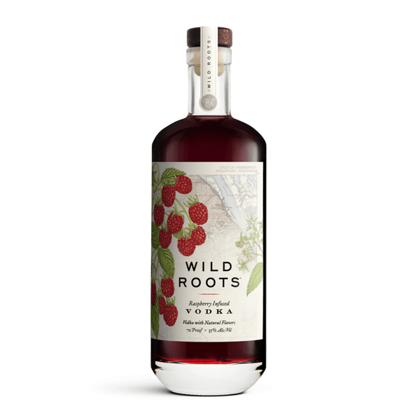 Wild Roots Raspberry Infused Vodka - Available at Wooden Cork