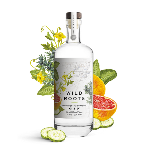 Wild Roots Cucumber & Grapefruit Infused Gin - Available at Wooden Cork