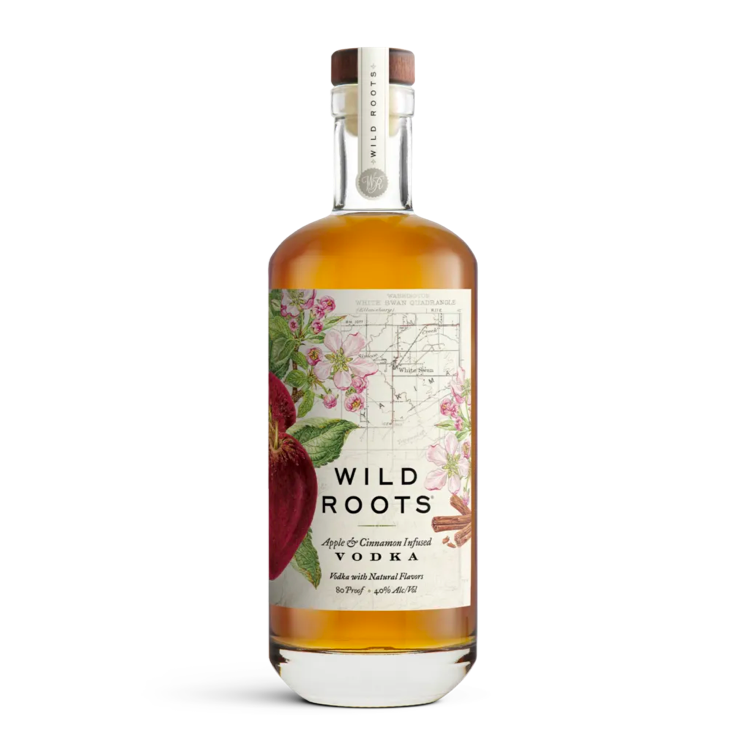 Wild Roots Apple and Cinnamon Infused Vodka - Available at Wooden Cork