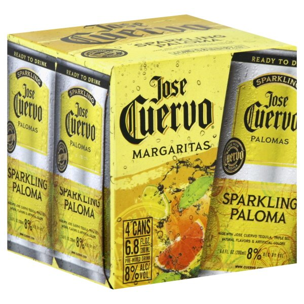 Jose Cuervo Sparkling Paloma Canned Cocktail 4pk - Available at Wooden Cork