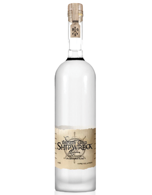 Brinley Gold Shipwreck White Reserve Rum - Available at Wooden Cork