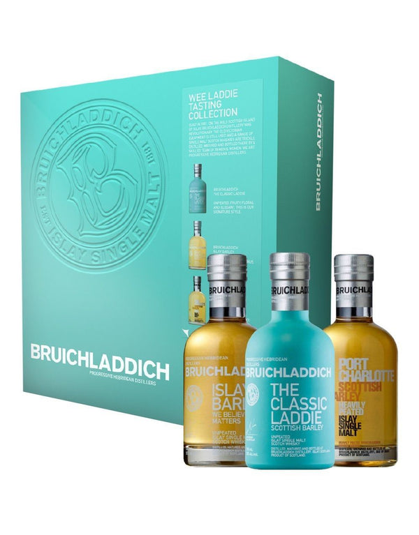 Bruichladdich Wee Laddie Pack Classic Laddie, Islay Barley, Port Charlotte Scottish Barley - Available at Wooden Cork