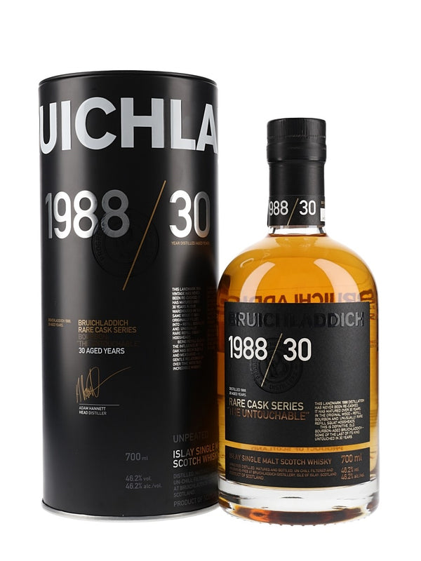Bruichladdich Rare Cask Series 30 Years Old 1988 The Untouchable Islay Single Malt Scotch Whisky - Available at Wooden Cork