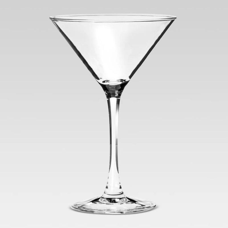 Glass Modern Martini Glasses 7.6oz 4pk
