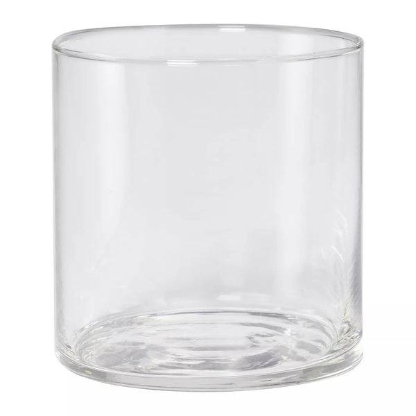 Glass Clarte Short Tumblers 12.5oz 4pk  Wooden Cork