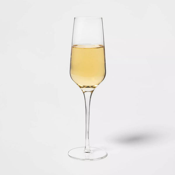Glass Champagne Glasses 8oz 4pk - Available at Wooden Cork