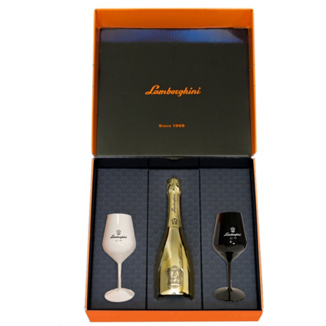 Lamborghini: Oro Vino Spumante With Gift Set - Available at Wooden Cork