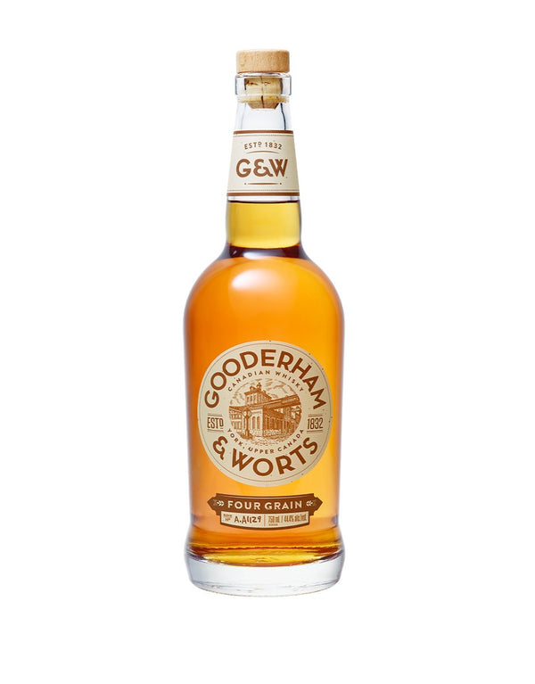 Gooderham & Worts Four Grain Canadian Whisky - Available at Wooden Cork