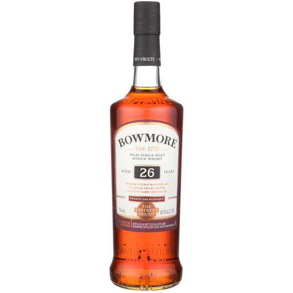 Bowmore Single Malt Scotch The Vintner's Trilogy French Oak Barriques 26 Year - Available at Wooden Cork