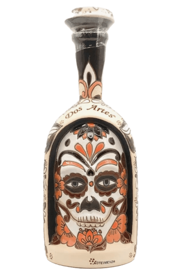Dos Artes Extra Anejo Skull Bottle Tequila - Available at Wooden Cork