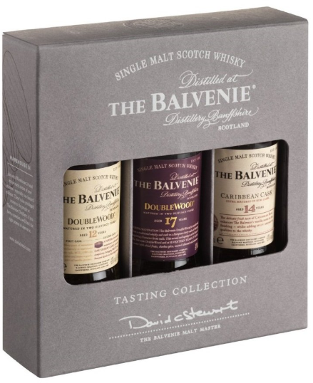 Balvenie Tasting Collection 12yr/14yr/17yr Scotch 50ML - Available at Wooden Cork