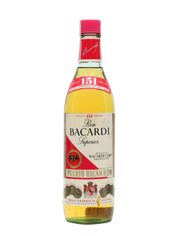 Bacardi 151 Rum 750ml Original Label - Available at Wooden Cork