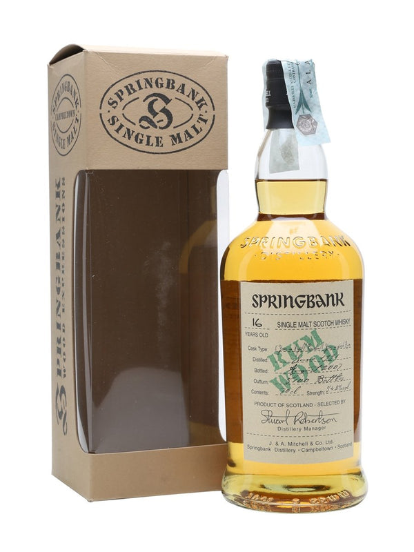 Springbank 1991 16 Year Old Rum Wood - Available at Wooden Cork