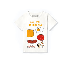 'English Breakfast' White T-shirt