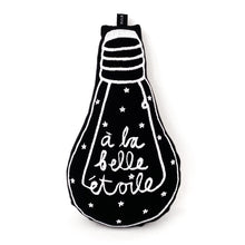 Load image into Gallery viewer, 'à la belle étoile' black bulb cushion - BULB LONDON