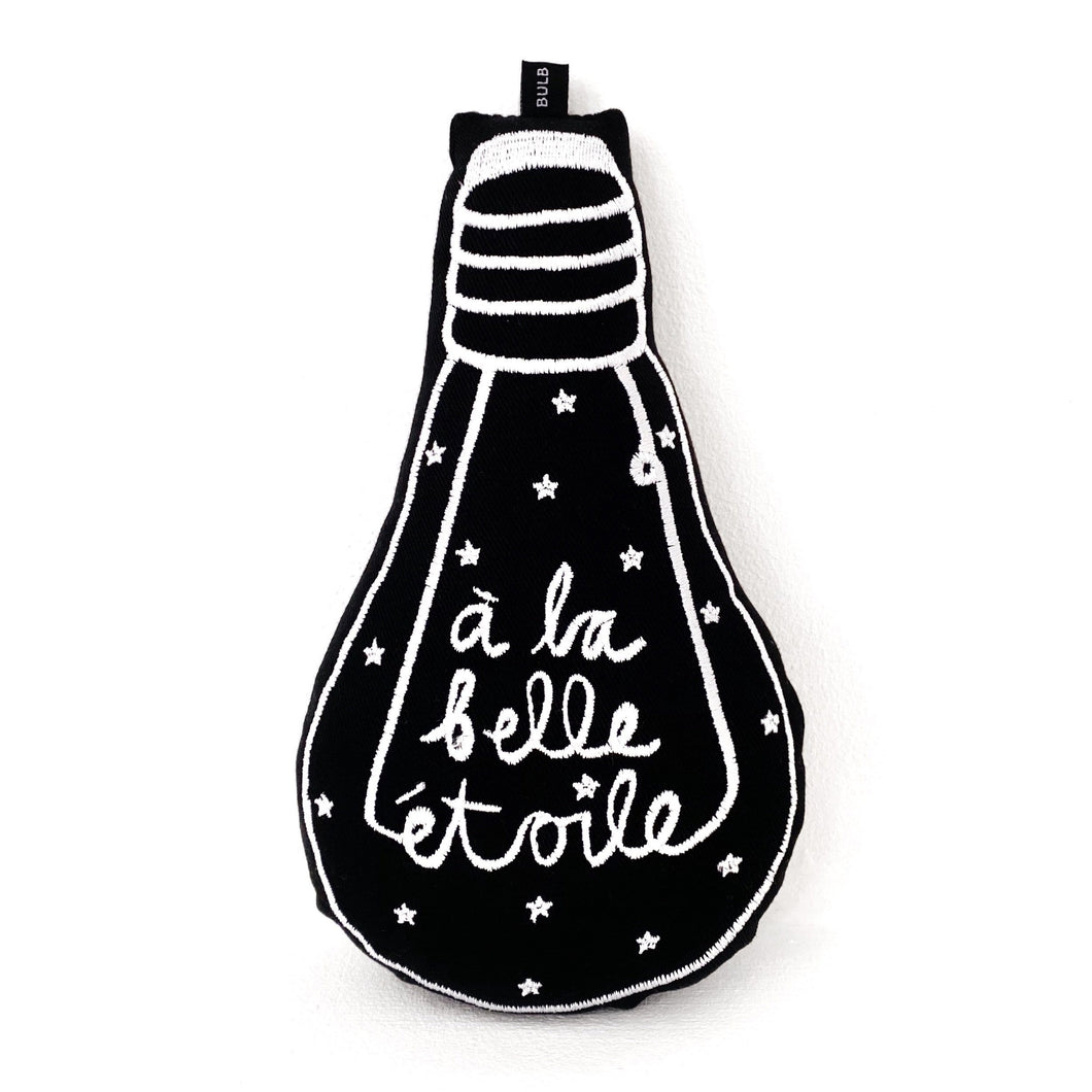 'à la belle étoile' black bulb cushion - BULB LONDON