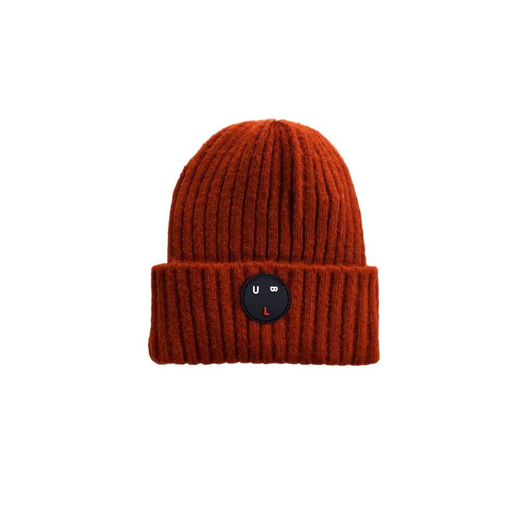 'Bulb' Brown Beanie Hat